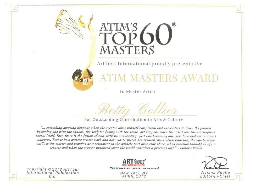 Betty Collier ATIM Top 60 Masters 2018